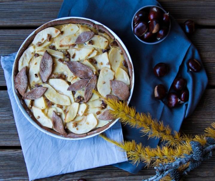 Appel- en kastanjetaart {glutenvrij – zonder melk}