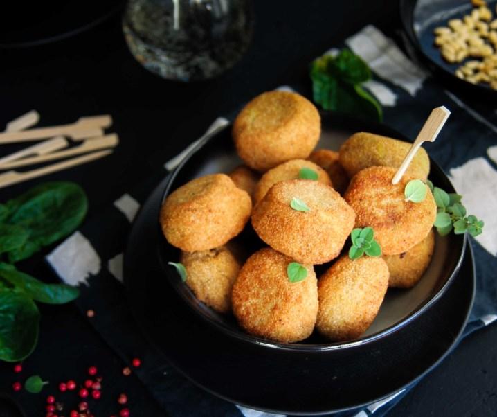 Croquette d'amarante aux épinards {vegan – sans gluten}