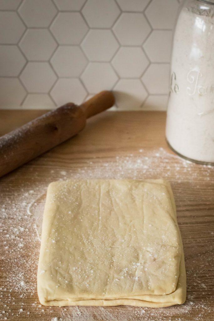 Pâte feuilletée sans beurre