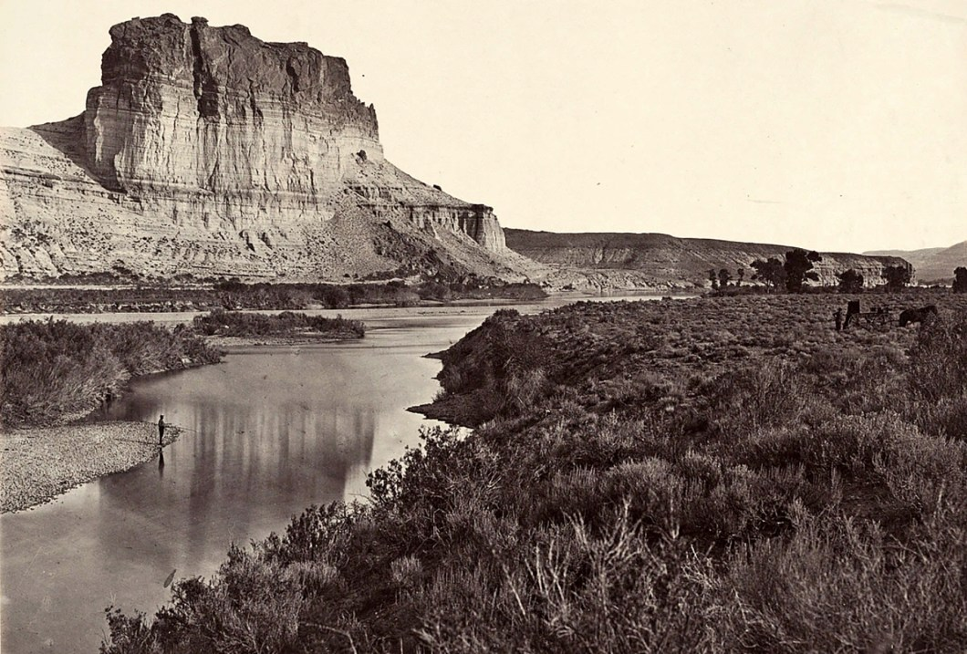 Castle Rock, Green River Valley, Wyoming. Yale Collection of Western Americana, Beinecke Rare Book and Manuscript Library