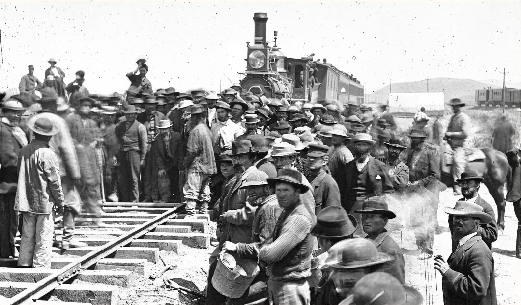 Laying the Last Rail, Andrew J. Russell, Oakland Museum of California Art
