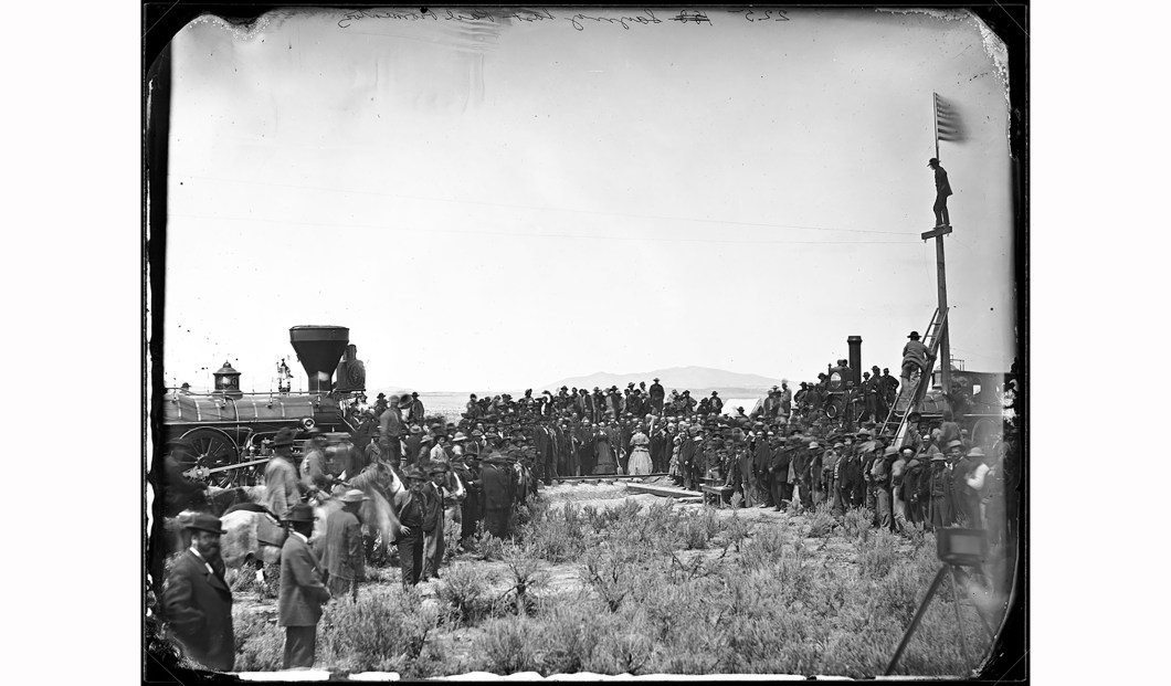 The Golden Spike Ceremony at Promontory Summit, Utah, A.J. Russell