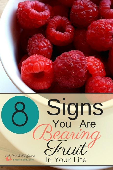 Are you wondering what the signs are of bearing spiritual fruit in your life? Are you confused about how to make sure you are bearing fruit? I share 8 Signs You Might Be Bearing Fruit to help you in Christian Living.