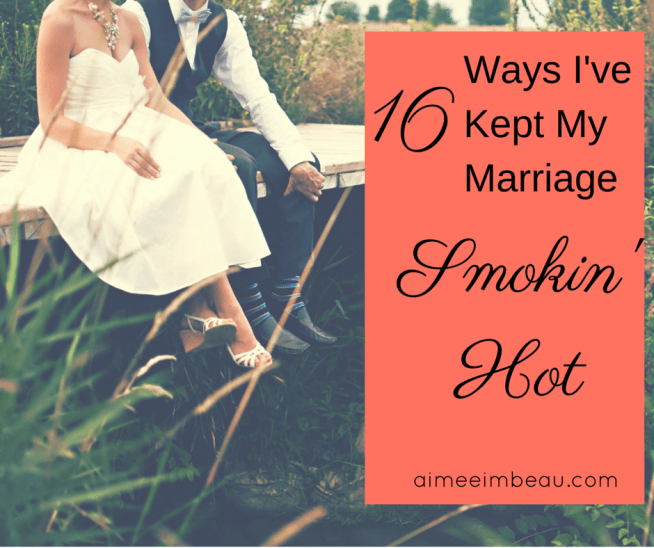 A couple can learn a lot of things in 16 years of marriage.  Here are our top 16.