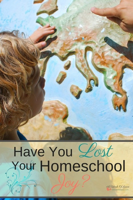 Sometimes it can be so hard to homeschool. We start to yell and beg our kids to get their work done. Here are a couple of reasons why this might be. Have You Lost Your Homeschool Joy?