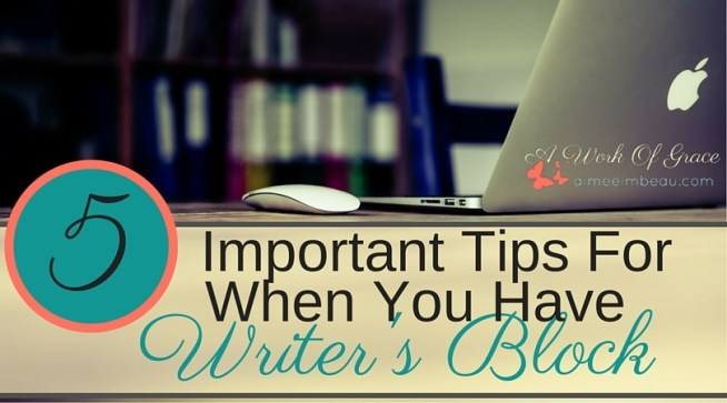 Do you sometimes get stuck for blogging ideas? It seems like your brain suddenly stopped working? Yeah, that has happened to me! Here are 5 Important Tips For When You Have Writer's Block for Christian bloggers.