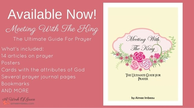 A fabulous resource to enhance your prayer life! Includes prayer journal pages and templates. Meeting With The King: The Ultimate Guide For Prayer