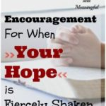Grace and Truth ~ Encouragement For When Your Hope is Fiercely Shaken