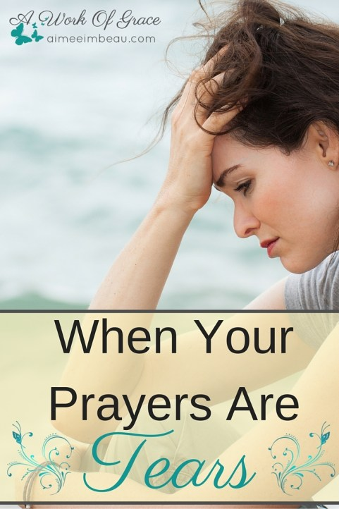 Have you ever been so struck with grief and sorrow that all you could offer God were your tears? No words, no eloquent prayers? No recitations of scripture? Just tears. This post is for When Your Prayers Are Tears