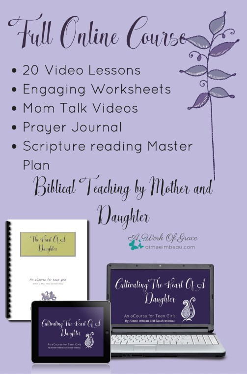 Are you wanting to help your daughter draw closer to God? Do you wish your relationship with her was deeper? This course will help in both of those areas! Cultivating the Heart of a Daughter. Affiliate opportunity!