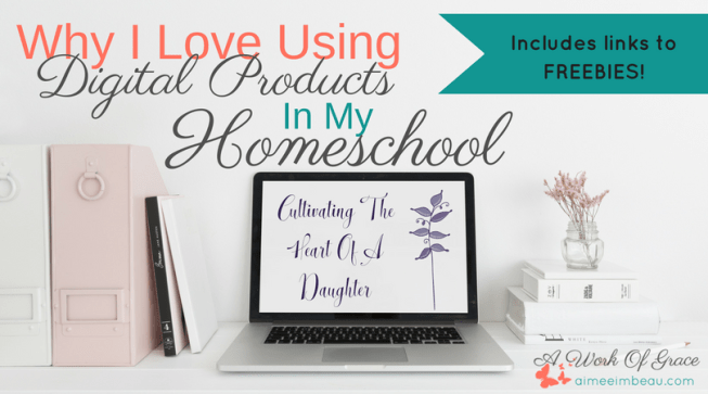 Do you have curriculum that just sits on your shelf, unused? Do your kids get part way through a workbook before you give up fighting with them to finish it? Do you feel pressured to buy a year's worth of programs at the homeschool convention? I get it. I switched to using mostly digital products a few years back and I love it. Why I Love Using Digital Products In My Homeschool