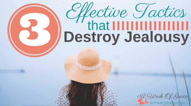Have you ever heard someone share how God has blessed them and you started to complain that you didn't get the same blessing? I have...recently, in fact. And God convicted me right then and there. His truth penetrated my heart. Here are 3 Effective Tactics to Destroy Jealousy.