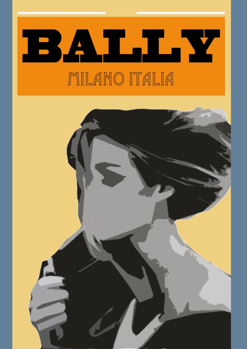 Bally Art Deco Poster Little Aim