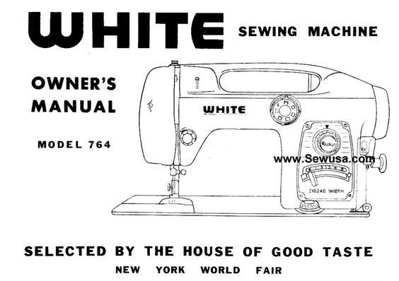 White sewing machine manual download