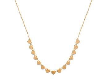 Collier Babe en plaqué or 18 carats 3 microns Aimée private collection petits coeurs, splendide bijoux tendance, mode