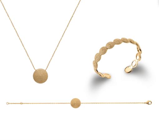 Collier Fuji en plaqué or 18K 3 microns Aimée Private Collection bracelet femme influenceuse bijoux fantaisie