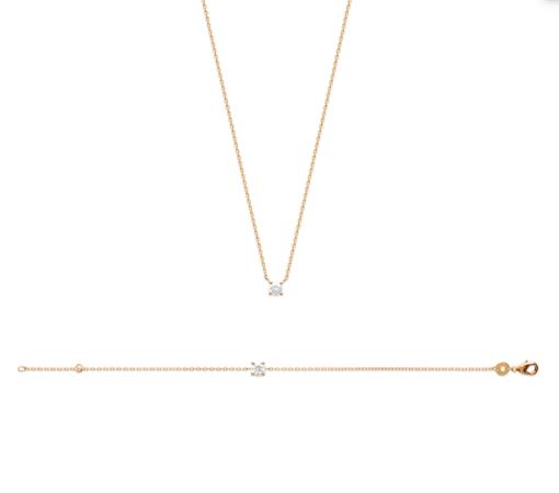 Collier Halvie plaqué or 18K 3 microns serti diamant zirconium Aimée Private Collection tendance influenceuse bijoux fantaisie