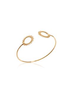 Jonc Sunny en plaqué or 18K 3 microns soleil Aimée Private Collection bracelet femme influenceuse bijoux fantaisie