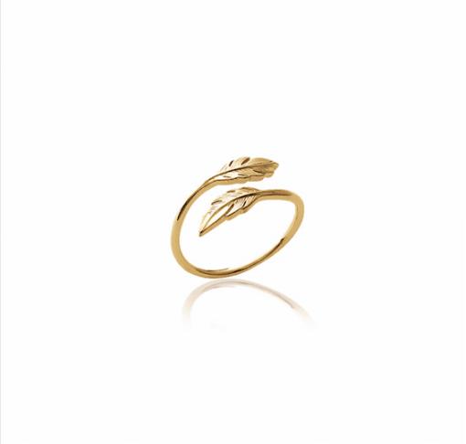 Bague Amy en plaqué or 18k 3 microns feuille Aimée Private Collection nouveau modèle influenceuse tendance élégance bijoux fantaisie