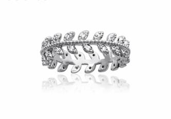 Bague Autumn en argent 925 rhodié micro serti diamants en oxyde de zirconium Aimée Private Collection nouveau modèle influenceuse tendance élégance