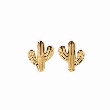Boucles d'oreilles Cacté cactus plaqué or 18K 3 microns Aimée Private Collection nouveau modèle influenceuse top tendance