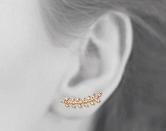 Boucles d'oreilles Autumn plaqué or 18K 3 microns micro serti Diamants Zirconium Aimée Private Collection nouveau tendance influenceuse