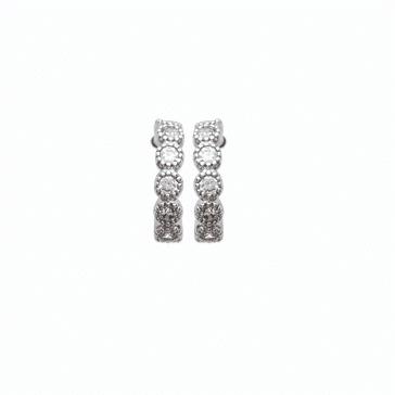 Boucles d'oreilles Emily en argent 925 rhodié micro serti de brillants Aimée Private Collection nouveau modèle influenceuse