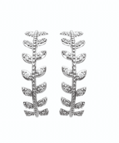 boucles d'oreilles Autumn en argent 925 rhodié micro serti de brillants Aimée Private Collection nouveau modèle influenceuse