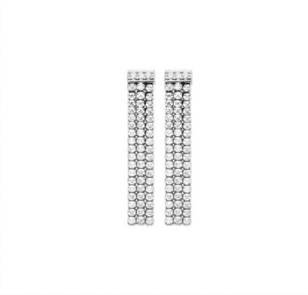 boucles d'oreilles Valerie en argent 925 rhodié serti de brillants Aimée Private Collection nouveau modèle influenceuse