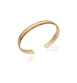 Jonc Cliff plaqué or 18 carats 3 microns Aimée Private Collection bijoux tendances nouveau
