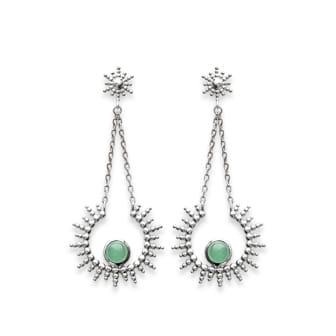 Boucles d'oreilles Sunny en argent 925 rhodié pierre semi précieuse Aimée Private Collection tendance