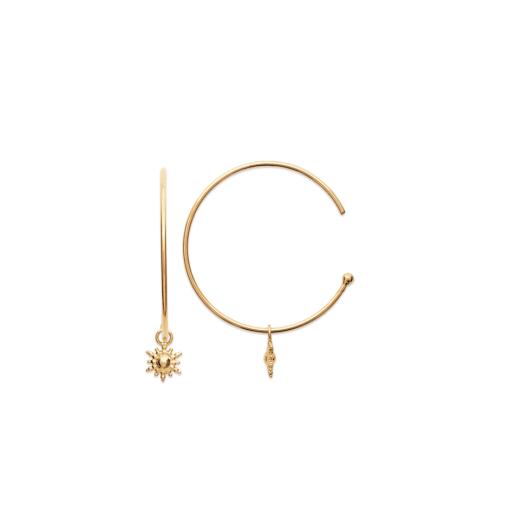 lush boucles d'oreilles aimee private collection bijoux plaqué or argent mode femme cadeau