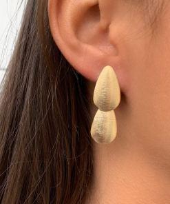 Boucles d'oreilles en plaqué or 18 carats 3 microns.
