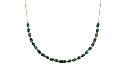 bijoux plaqué or jaspe vert aimee private collection