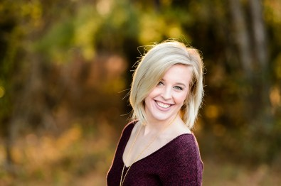 Blond Senior Girl with Short hair - portrait