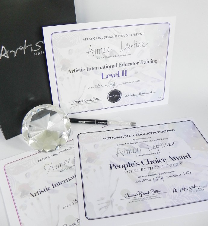 Artistic Educator Training for Aimees Nail Studio Peterborough ON
