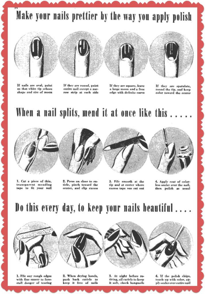 1940's manicure guide
