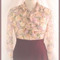 A Plum 1930's Day Dress