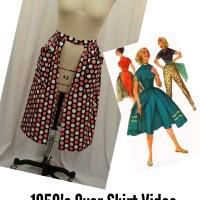 1950's Overskirt Video Tutorial: Beginner's Sewing