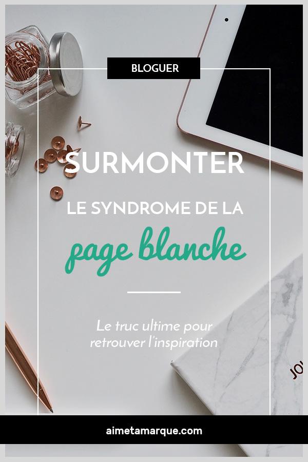 Syndrome De La Page Blanche : syndrome, blanche, Surmonter-le-syndrome-de-la-page-blanche, Marque