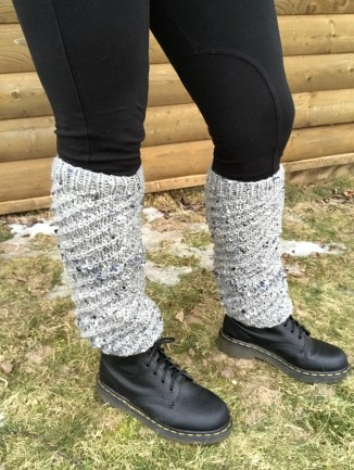 Leg Warmers with Dr. Martens and leggings