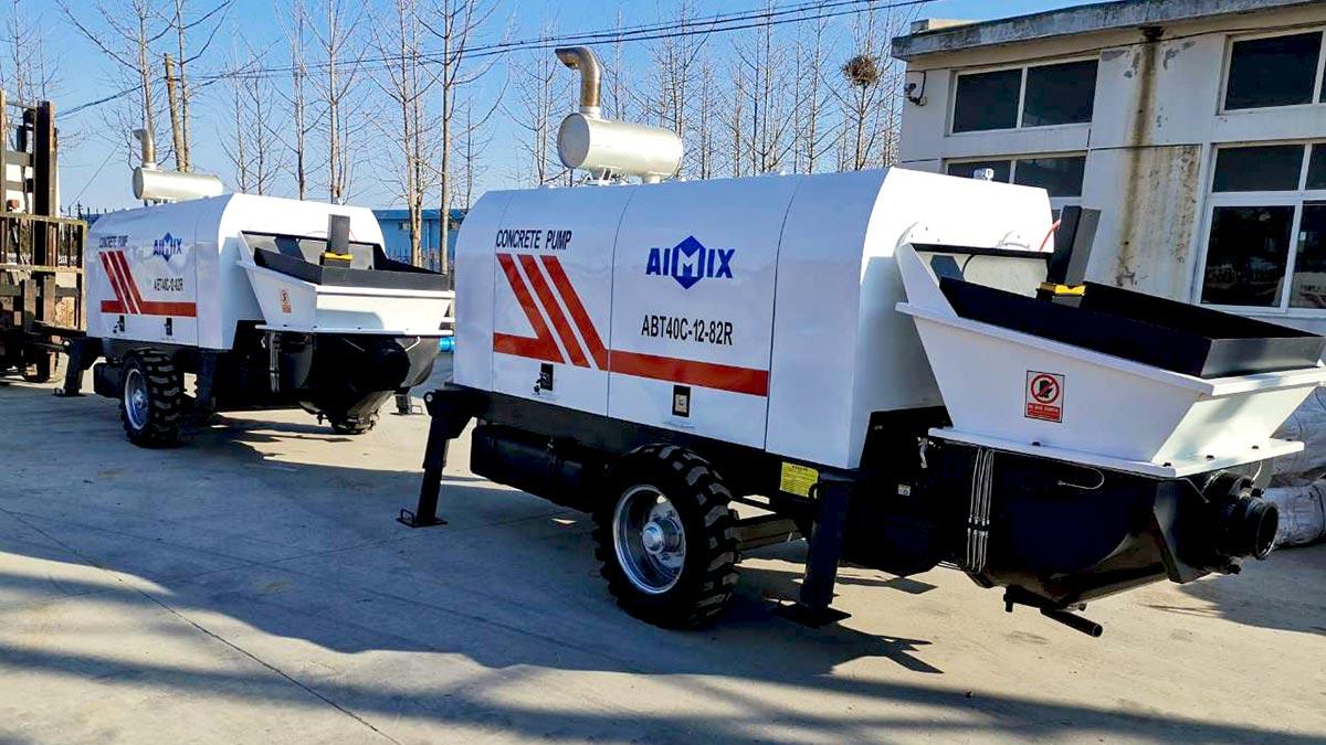 2 Sets ABT40C Trailer concrete pump To Philippines