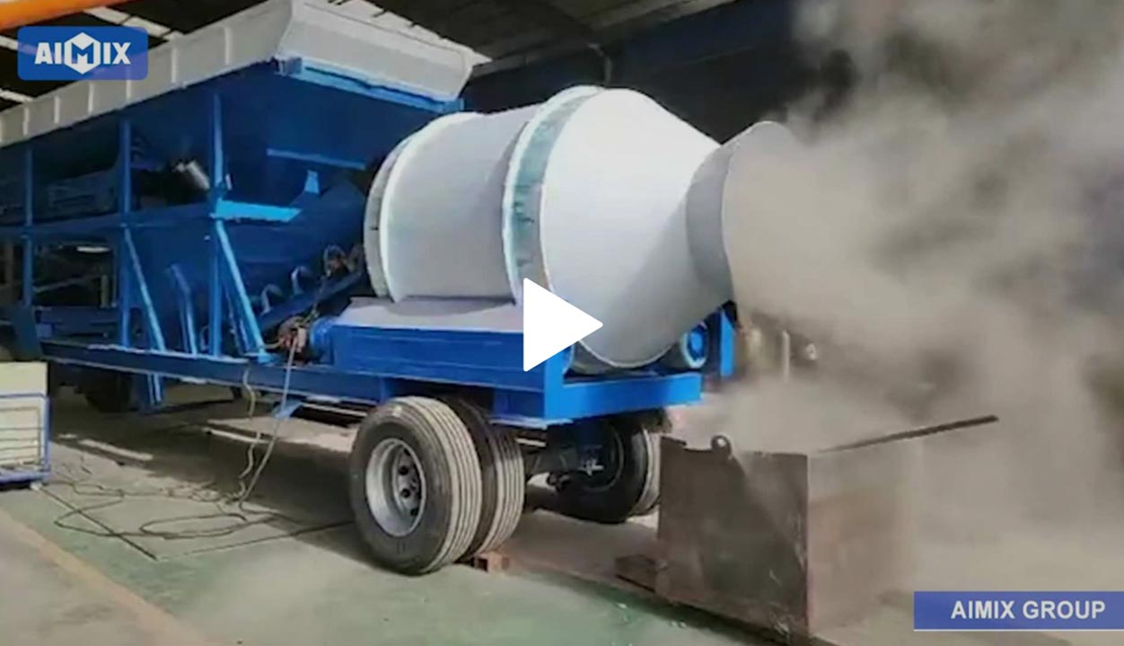 Portable Concrete Plant Factory Testing Before Ship To Chile