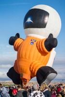 Interesting shaped hot air balloon: Astronaut Balloon Photo
