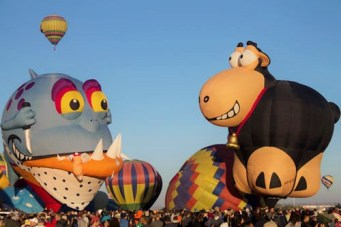 Interesting shaped hot air balloon at the Albuquerque International Balloon Fiesta