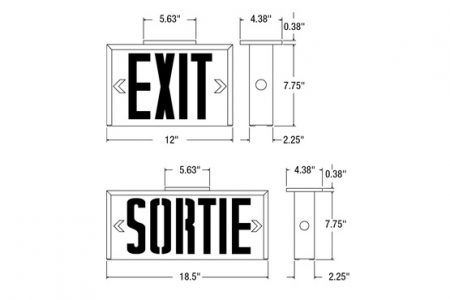 Exit Sign Led Lighting Exit Sign Emergency Lighting Wiring