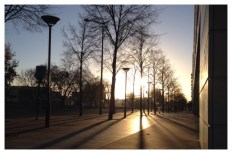 Ivry-sur-Seine, Sunrise, Morning, perspective