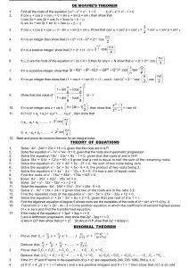 Maths IIA-IIB IMPORTANT QUESTIONS - Aims Tutorial (10+2)
