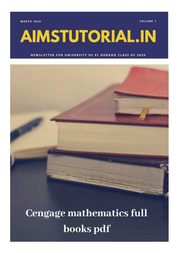 CENGAGE MATHEMATICS FULL BOOKS PDF