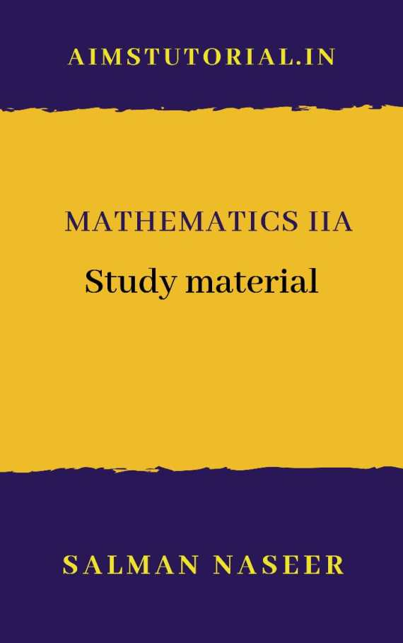 2nd year maths 2A study Material